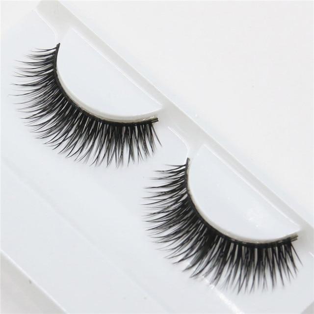 1 pair thick false eyelashes natural slender fashion beauty Eyelash Makeup Tools