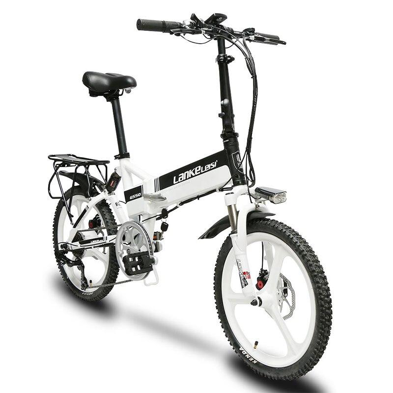 Cyrusher G550 vélo électrique à suspension complète 3 roues de couteau 240 W 48 V vélo électrique à moteur sans brosse avec odomètre intelligent