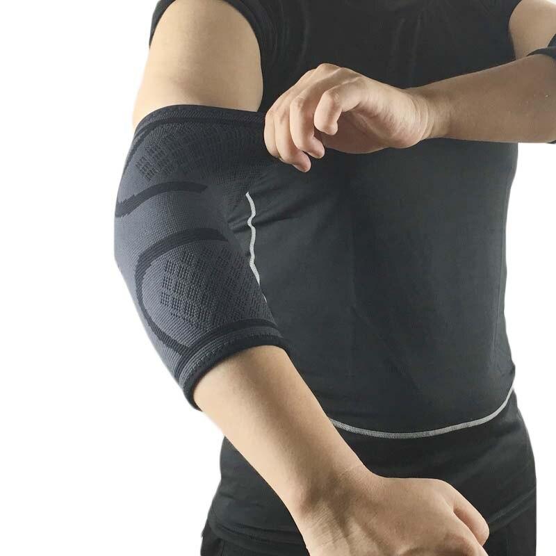 1 pçs esporte de náilon cotovelo almofada ciclismo braço de basquete manga para homens feminino protetor de cotovelo de tênis suporte cinta vôlei fitness