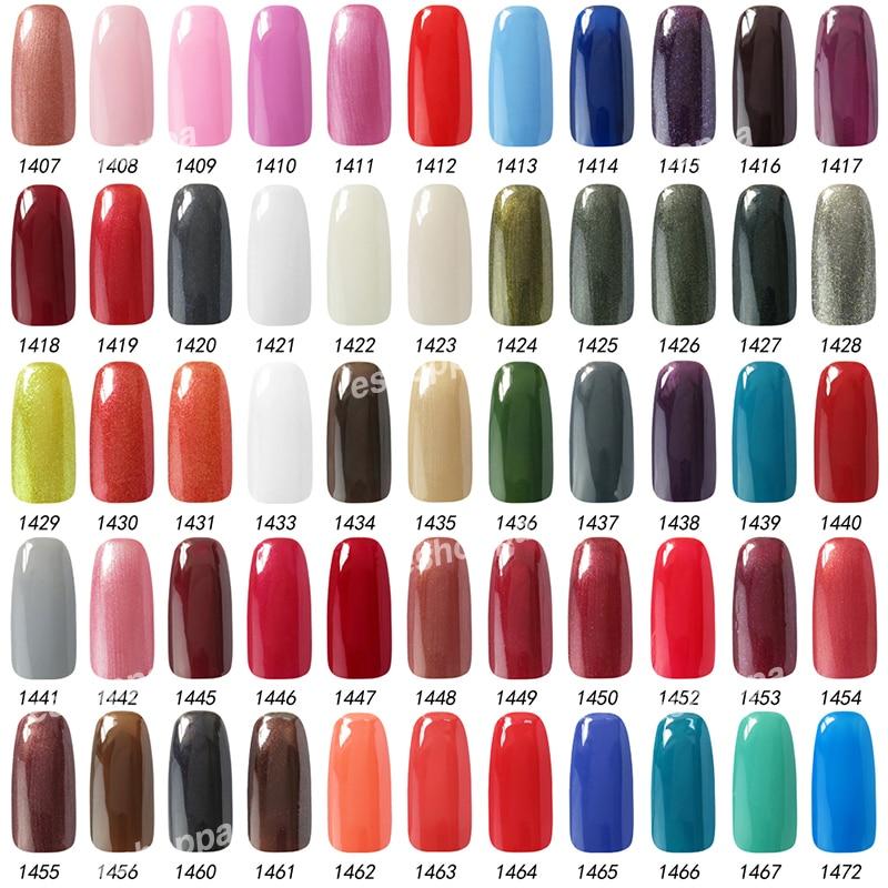 Gelish Nails Color Chart