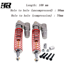 2pcs Free shipping RC car 108mm Aluminum Piggyback Shock Absorber Springs for Crawlers CC01 D90 SCX10 High Quality