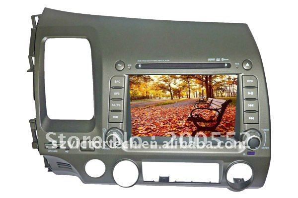"7"" Special Car DVD Navigation system for Honda Civic with TV Bluetooth IPOD Radio"