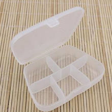2018 Brand New High Quality Clear Plastic Jewelry Bead Multifunctional Storage Box Container Organizer Case Craft Tool 6*8.5CM(China)