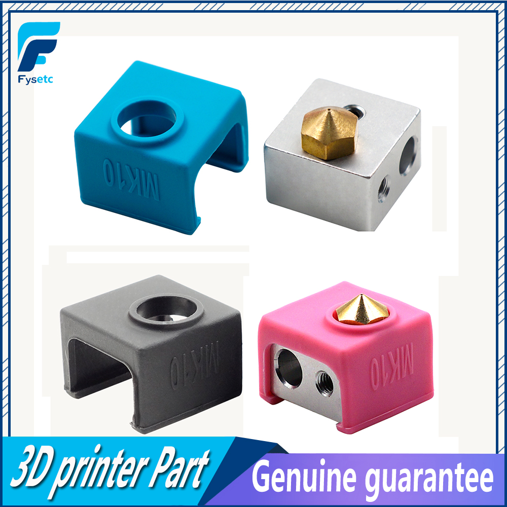 MK10 Silicone Sock Black Blue Pink Instead Ceramic Insulation For Wanhao I3 QIDI TECH SILICONE HEATER BLOCK COVER