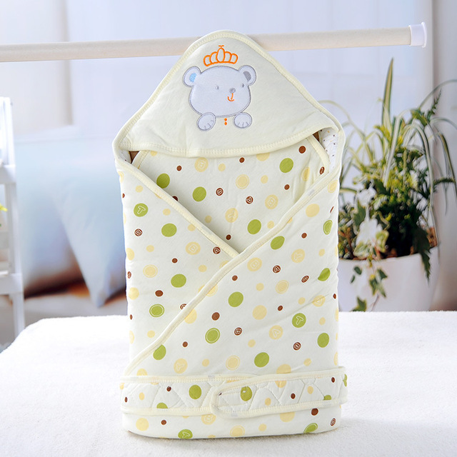 2016 Infant Crown Bear New Cotton Quilt baby Holds Blanket Newborn Envelope Baby Bedding Swaddle Infant Sleepsack Cobertor 85*85