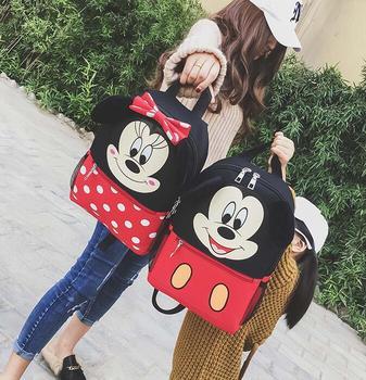 Yeni Çocuk çantası Anaokulu Çocuk Karikatür Mickey Okul Çantaları Minnie Sırt Çantası Su Geçirmez Okul Satchel