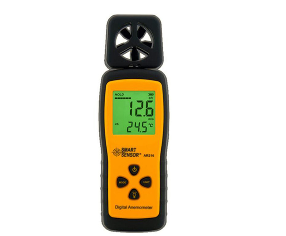 цена на Mini Type Anemometer AR216 Air-flow Anemometer Digital Wind Speed Meter Tester