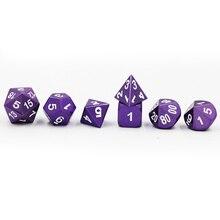 Dark Amethyst Purple Metal Dice Set