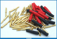 50PCS Copper 2mm Banana Plug Binding Post For Medical Physiotherapy Equipment