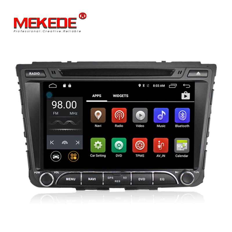 Android7.1 MEKEDE M518 8inch 2din Car stereo head multimedia unit car GPS DVD player for HYUNDAI IX25 Creta 2014 2015 4G wifi BT