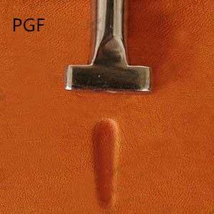 Tommeltype nr. 2 glatt hudverksted av PGF90-02 rustfritt stål - Kunst, håndverk og sying