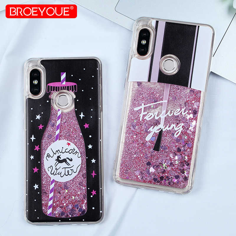 Obudowa do Xiaomi Redmi Note 7 Pro Case Redmi 4X 4A S2 4A 5A uwaga 4X uwaga 5 Plus płyn Glitter Case dla iPhone 5S 6 6S 7 8 Plus X