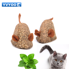 YVYOO Cat toy Pet Mint ball Fake mice type Clean the mouth Add Vitamins Catnip Toys Clean the mouth 1pcs YV55