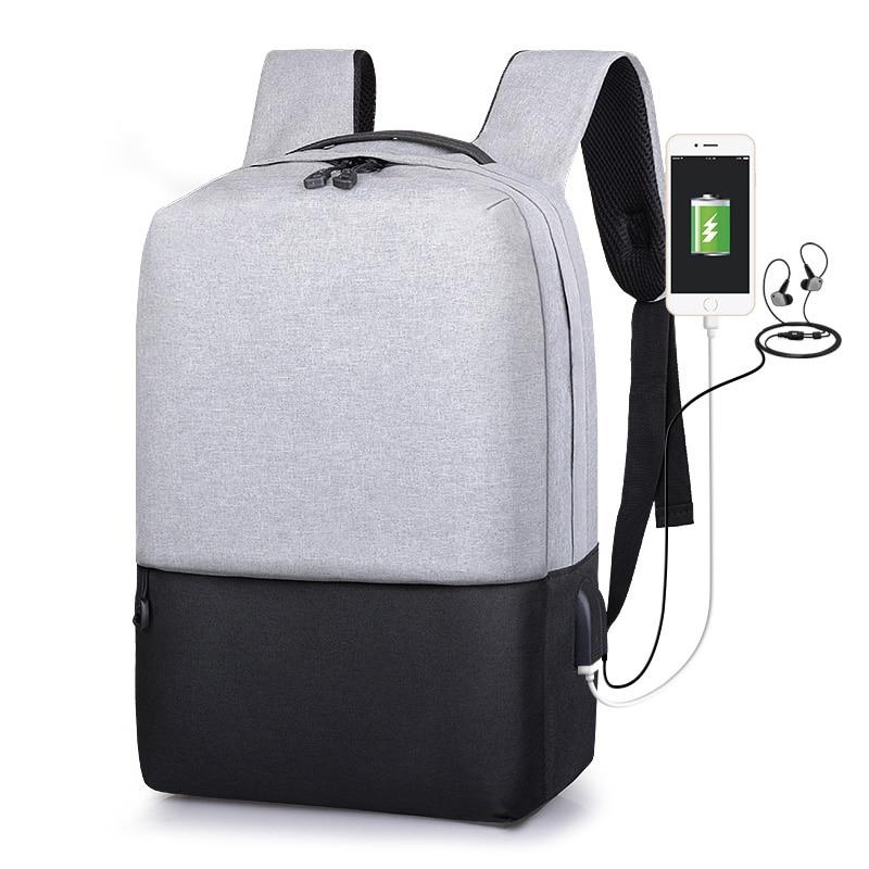 Business Men Bag Oxford Cloth Men Backpack USB Charger Laptop Bag Casual Travel Bag School Backpack Male Bag Sac A Dos Mochila