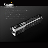 3100 Lumens Fenix UC52 Cree XHP70 LED Torch Super Bright Smart Rechargeable Flashlight with OLED Display Screen