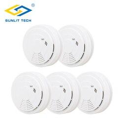 5 sztuk bezprzewodowa czujka dymu wysokiej czułości alarmu pożarowego dymu Alarm czujnik ruchu dla 433 MHz bezpieczeństwa w domu system antywłamaniowy