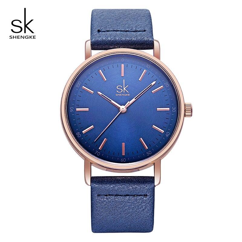 Shengke Colorful Leather Women Watches Quartz Ladies Wristwatch Reloj Mujer 2019 New SK Women's Day Gift For Women #K8065
