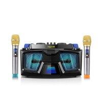 Bluetooth Multimedia Speaker Karaoke Microphone Super DJ Bass Hi Fi Active Portable 2.1 Home Theater System with TF Card USB