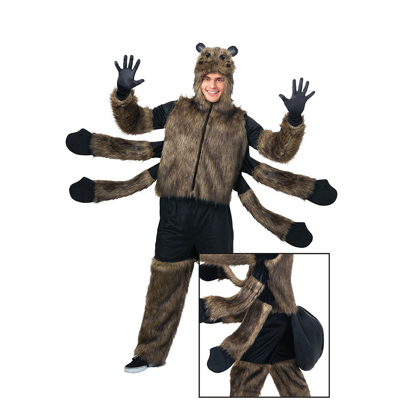 Winter <font><b>Halloween</b></font> Adult <font><b>Spider</b></font> <font><b>Costume</b></font> For <font><b>Men</b></font> <font><b>Man's</b></font> <font><b>Cosplay</b></font> <font><b>Costumes</b></font> Attached Cuddly Animal Clothes Disfraces Adultos