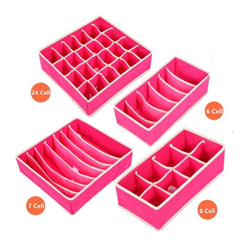 Katlanabilir Dokumasız Saklama Kutuları Setleri Iç Çamaşırı - Evdeki Organizasyon ve Depolama - Fotoğraf 4