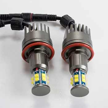 2*120W 240W H8 Angel Eyes LED Marker XTE 4800LM White 7000K for E90 E92 X5 E71 X6 E82 M3 E60 E70