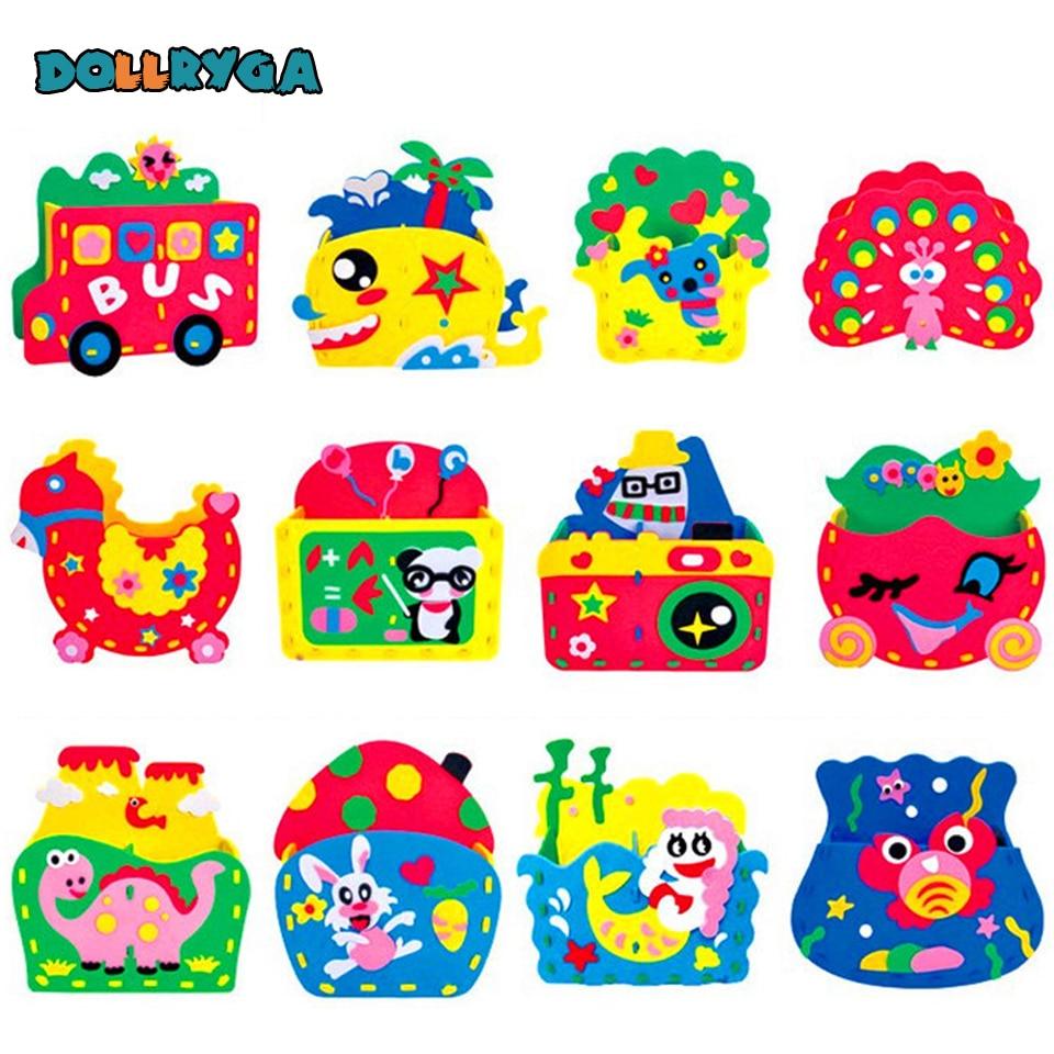 DOLLRYGA Children's Toys Goma Eva Manualidades Kids Craft Lote Craft Kits For Children For Kindergarten Handicraft Mainan Anak