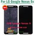 5 pçs/lote para google nexus 5x display lcd com tela de toque digitador completo assembléia grátis dhl
