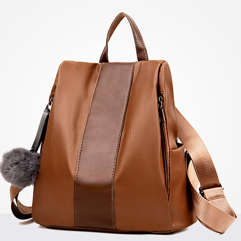 2018 new Women Backpacks PU Leather Backpack vogue Female Casual Bag Girls School Bags Woman Travel Back Pack fashion style Hot