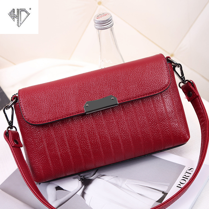 HD Brand 2017 Korean Style Fashion Handbag Ladies Package Pure Color Shoulder Crossbody Messenger Bag perfect 2016 new bag ladies korean ribbon fashion crossbody shoulder handbag free shipping