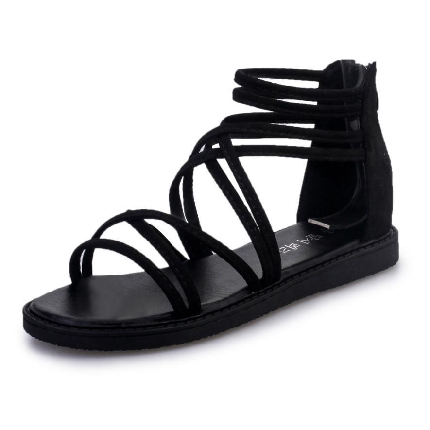 women Sandals Women Flat Shoes Bandage Bohemia Leisure Lady Casual Sandals Peep-Toe Outdoor Chaussures Femme 2018 hot sale 9