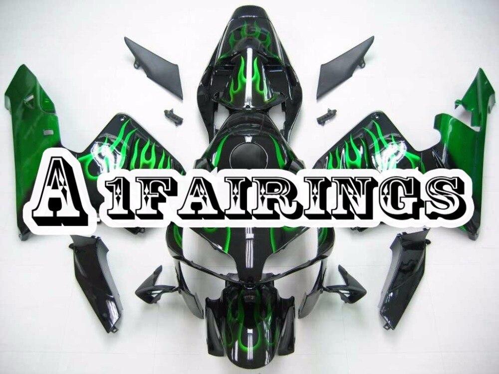 Bodywork for Honda CBR600RR F5 2003 2004 ABS Plastic Injection Panels Motorcycle Fairings F5 03 04 Body Kits Black Green Flame