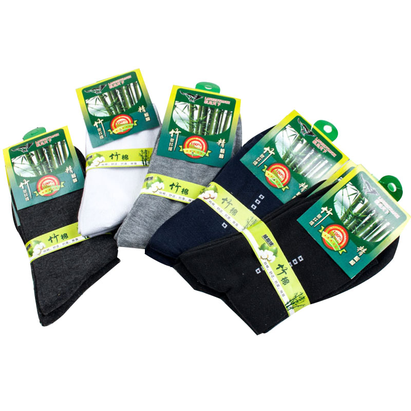 5Pair Man Sock 2018 New Men Bamboo Charcoal Cotton Sock Comfortable Breathable Absorbent Autumn Winter Small Plaid Business Sock