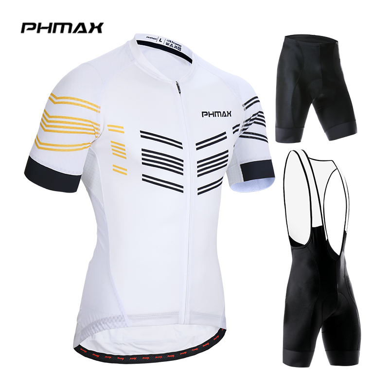 PHMAX 2019 Pro Cycling Set MTB Bicycle Clothes Maillot Ropa Ciclista Bike Clothing Sportswear Mens Ciclismo