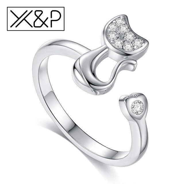 X&P Fashion Charm Crystal Top Quality Cubic Zirconia Adjustable Rings for Women