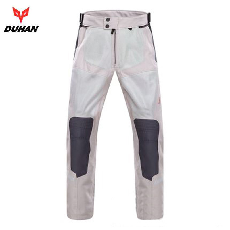 DUHAN Summer Motorcycle Protective pants Moto Breathable Mesh street riding motorcycle wear knee protectors trousers M-2XL duhan men s motorcycle jeans motorbike riding biker trousers denim motorcycle pants men moto pants knee guards protective gear