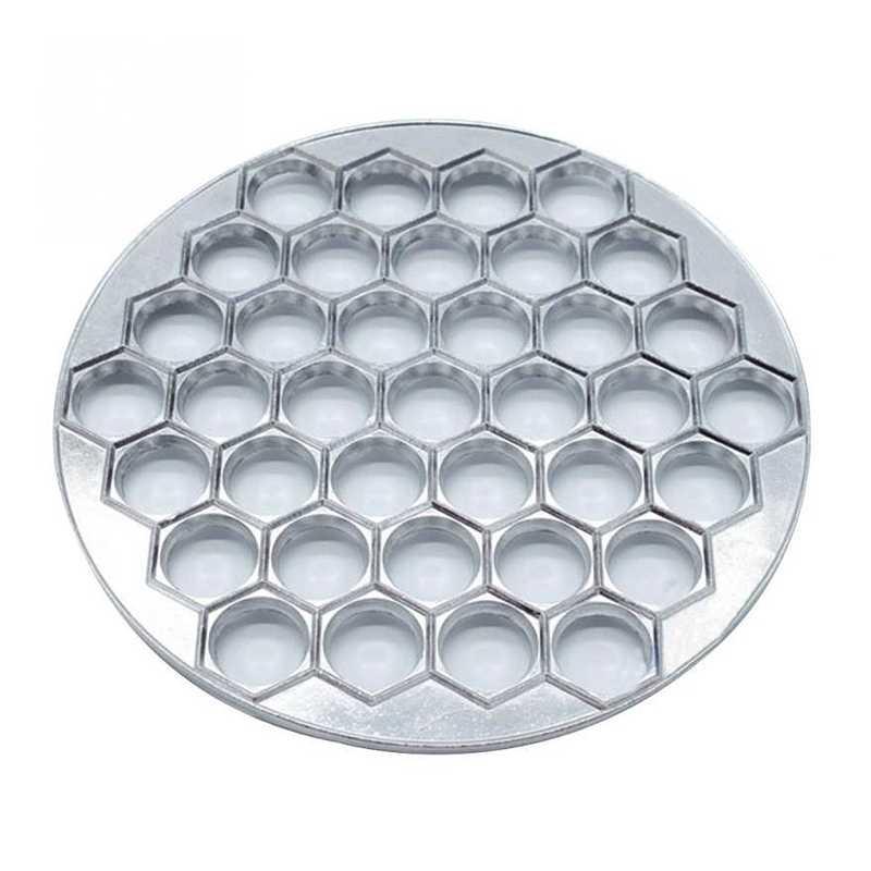37 ثقوب زلابية العفن أدوات الزلابية صانع رافيولي قالب ألومنيوم Pelmeni الزلابية المطبخ عدد وأدوات جعل المعجنات زلابية