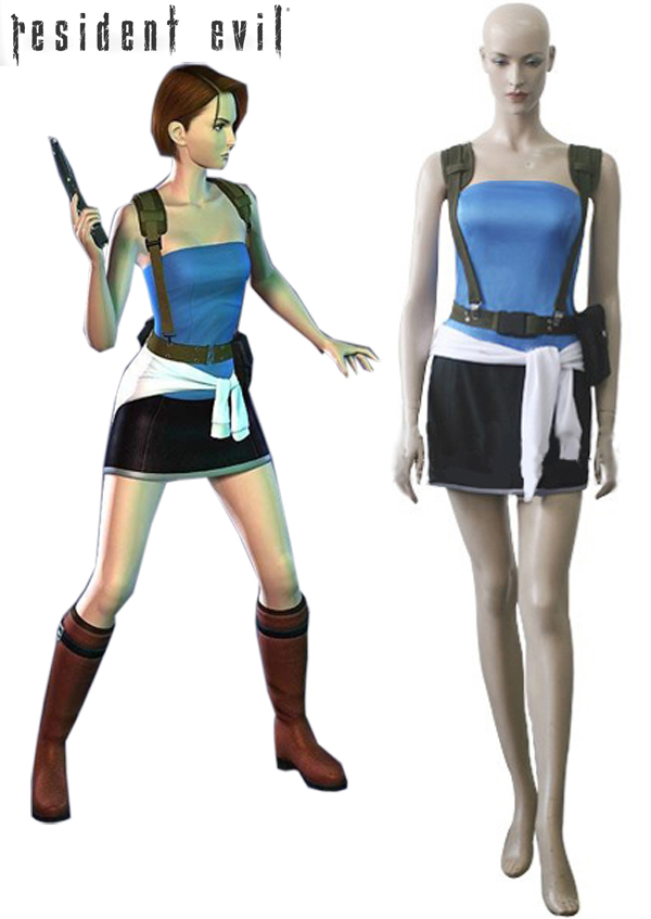 Jill Valentine Cosplay Costume Custom Made Full Set For Girls Halloween Party Cosplay