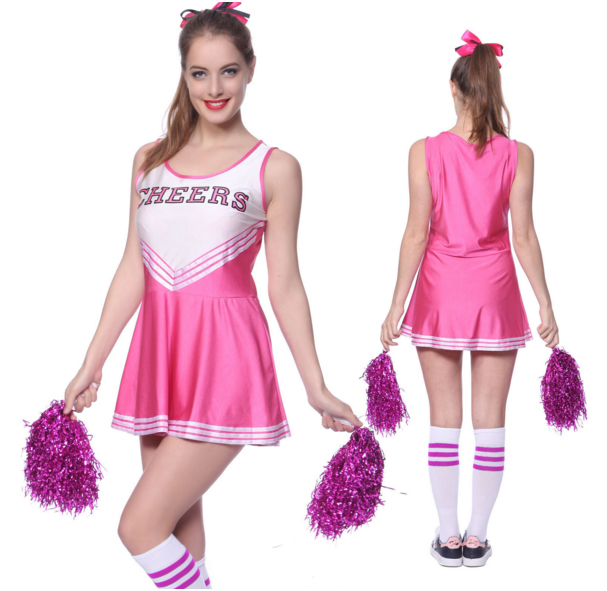 MOONIGHT Cheer Uniform Fancy Dress High School Musical Cheerleader Costume Without Pom Poms XS-XL