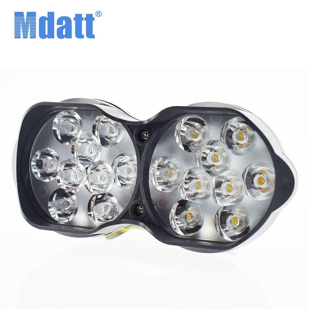 Led Spotlight Headlamp: Mdatt LED Double Lamps Motorcycle Led Headlight Headlamp