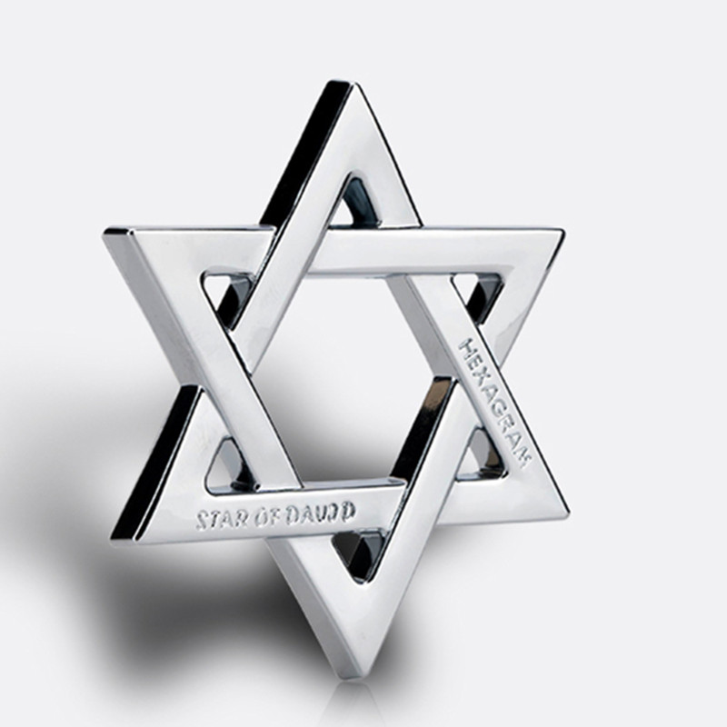 Image 5 - FLYJ 3D Metal Hexagram Star of David Car Stickers Car Styling Accessories for Israel Car Sticker-in Car Stickers from Automobiles & Motorcycles