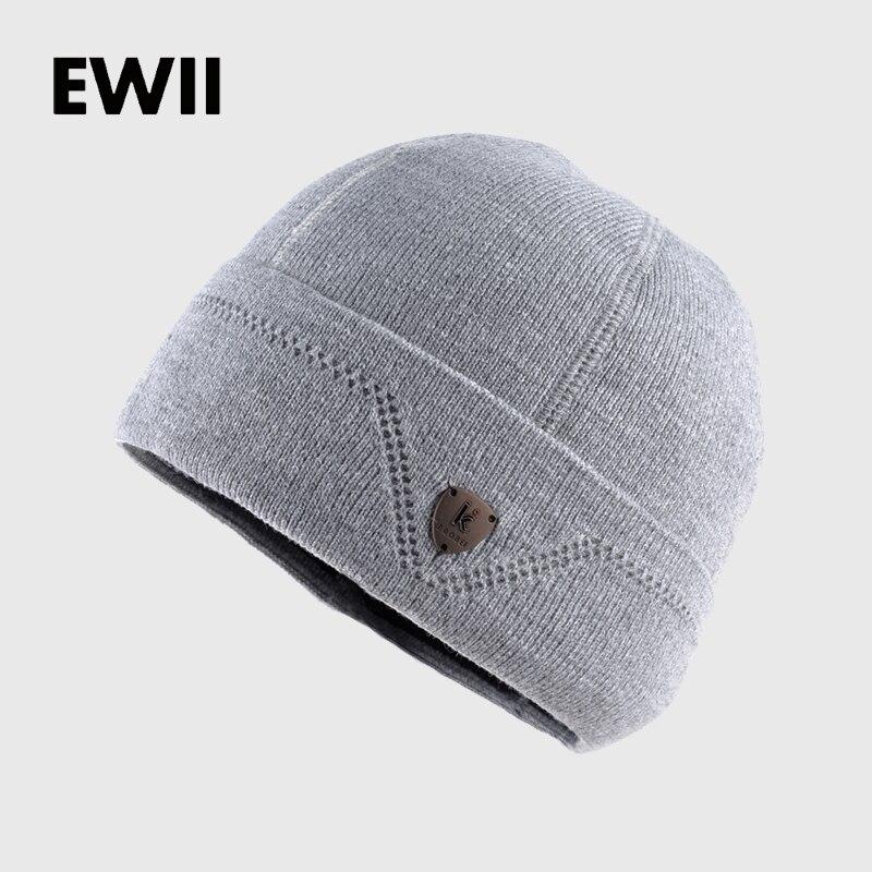 65e69e40372b Gorros de invierno para hombre sombrero de punto para niño gorros gorro  sólido para hombre gorro de lana caliente hueso