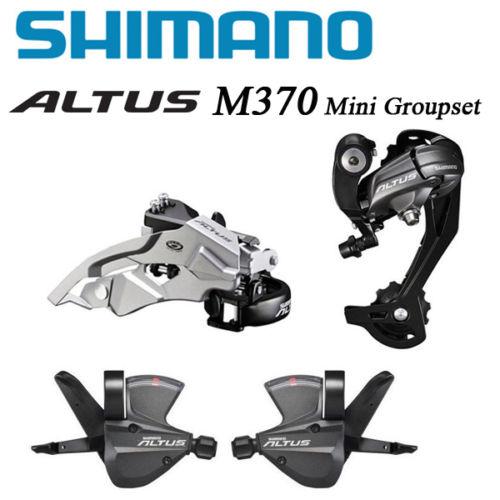 все цены на Shimano ALTUS M370 MTB Bike 3x9 27-Speed Shifter Derailleurs Mini Groupset free shipping онлайн