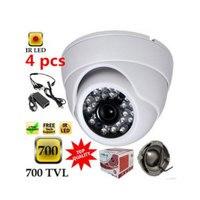 Free Ship 4 Channel CMOS 700TVL Camera Full D1 Video Recorder CCTV System Security Camera System