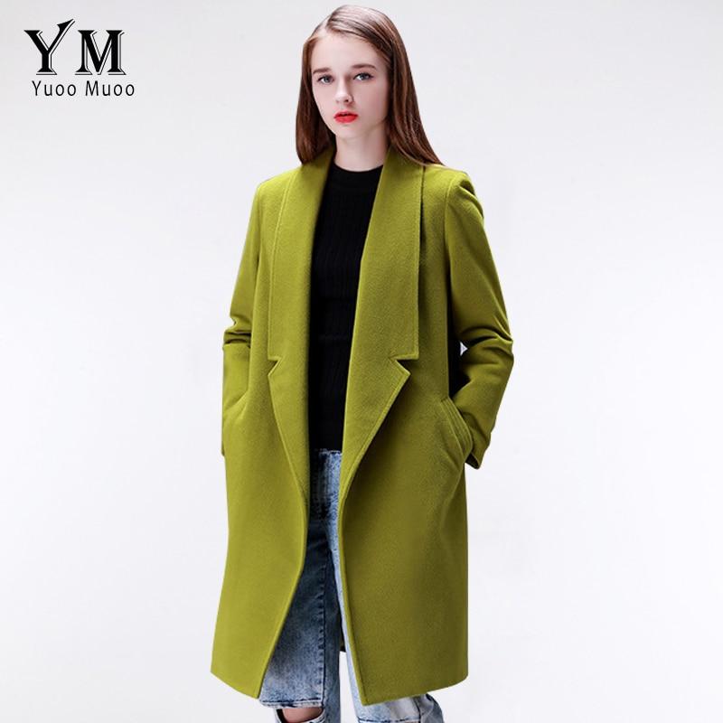 Women Winter Real Wool Fur Warm thick Cashmere Maxi Long Coat Parka Overcoat