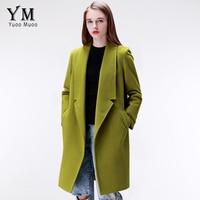 2015 Brand Design Winter Coat Women Warm Cotton Padded Wool Coat Long Women S Cashmere Coat