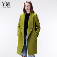 YuooMuoo Brand Design Winter Coat Women Warm Cotton padded Wool Coat Long Women's Cashmere Coat European Fashion Jacket Outwear