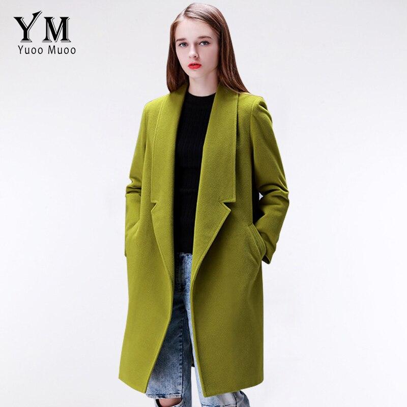 YuooMuoo marque Design hiver manteau femmes chaud coton-rembourré laine manteau Long femmes cachemire manteau mode européenne veste Outwear