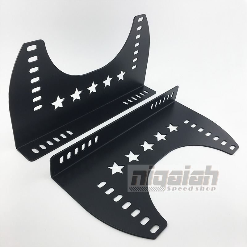 New Arrival Universal Replace Parts Iron& Aluminum Brake Black Seat Bottom Mount L Board Car Seat Side Mounting Higher And Wider
