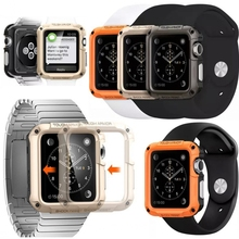 Новый двойной слой Броня часы чехол для Apple 42 мм я часы Tough Жесткий пластик + ТПУ SG крышка Капа шок противостоять двойной защитной оболочки