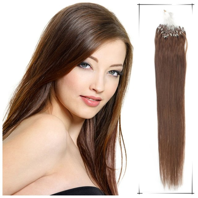 Extensiones De Pelo Natural 20 Inch Remy Human Micro Link Hair 0 5g S